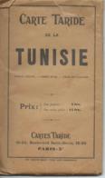 Carte Taride : Tunisie - 1/1 900 000ème - Années 30 Probables... - Mapas Geográficas