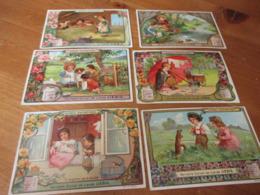 6 Chromo's Liebig,Scenes Enfantines - Liebig