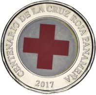 Panama 1 Balboa 2017 Bimetal UNC Red Cross - Panama