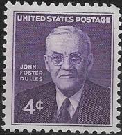 USA 1960 John Foster Dulles Memorial Issue - 4c Dulles MNH - Neufs
