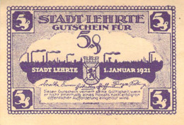 4 Scheine Notgeld A 5 10 25 50pfg.Stadt Lehrte UNC (I) - Lokale Ausgaben