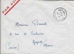 CACHET POSTE NAVALE 1944  LIEU BIFFE PAR SECURITE EN TEMPS DE GUERRE  PAR AVION - Guerra De 1939-45