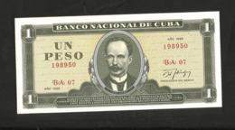 CUBA - BANCO NATIONAL De CUBA - 1 PESO (1985) - Jose Marti - Cuba