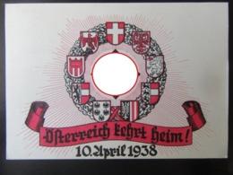 Postkarte Propaganda Anschluß Österreich 1938 - Storia Postale