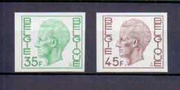 1984/85 Koning Boudewijn Elstrom 35 En 45fr. ONGETAND POSTFRIS**  1980 CAT: 60 Euro - Non Dentelés