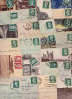 Timbre Type Louis Pasteur - Lot De 52 Cartes Postales Affranchies - Lettres - Timbres - 1922-26 Pasteur