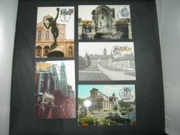 "BELG.1992 2468 2469 2470 2471 & 2472 FDC Maxicards :  ""  Emission Touristique  / Toeristische Uitgifte "" - FDC"