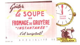 "So V G/  Buvard Soupe ""Vache Grosjean""  (N= 1) - Produits Laitiers"