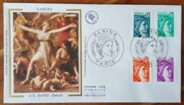 FDC 1978 - YT N°1966 à 1969 - SABINE - PARIS - FDC