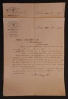 Cinq écrits Commerciaux Datés De 1891 De La Maison Mertens Et Cie Sise Cross Lane à Londres Au Royaume Uni - Royaume-Uni