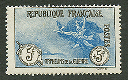 5F + 5F ORPHELIN (n°155) Neuf *. Cote 2100€. Signé SCHELLER. TB. - France