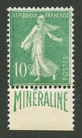 10c MINERALINE (n°188A) Neuf *. Cote 500€. Signé SCHELLER. Superbe. - France
