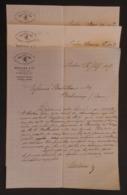 Trois écrits Commerciaux Datés De 1887 Et 1893 De La Maison Mertens Et Cie Sise Cross Lane à Londres Au Royaume Uni - Royaume-Uni