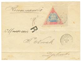 1910 5F (n°19) Bord De Feuille Obl. DJIBOUTI Sur Enveloppe(pd) RECOMMANDEE. Cote Du Timbre Détaché = 180€. TB. - Côte Française Des Somalis (1894-1967)