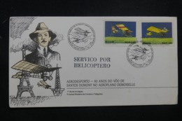 BRÉSIL - Enveloppe Par Hélicoptère En 1989, Affranchissement Et Oblitération Plaisants - L 42349 - Brazilië