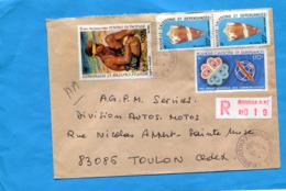 MARCOPHILIE- Lettre-Nlle Calédonie>Françe-cad -1984-4stamps N°A234 Tableau+483 Coquillage+A229 Année Com - Briefe U. Dokumente