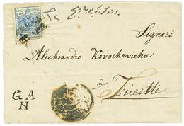 BOSNIA : 1854 AUSTRIA 9k With 4 Margins + Negativ Cachet On Entire Letter To TRIESTE. Scarce. Vvf. - Bosnie-Herzegovine