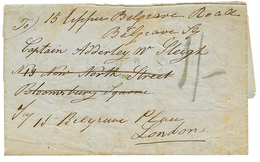 "GIBRALTAR : 1852 ""1/-"" Tax Marking On Entire Letter From GIBRALTAR To ENGLAND. Vvf. - Gibraltar"