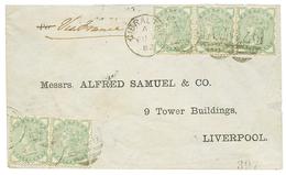 1882 GB 1/2d Green (x5) Canc. A26 + GIBRALTAR On Envelope To ENGLAND. Scarce. Vf. - Gibraltar