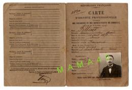 CARTE D'IDENTITE PROFESSIONNELLE DE 1922 - REPRESENTANT DE COMMERCE - STE DEHESDIN - LINGERIE - PARIS - Cartes