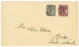 SAMOA : 1899 2 1/2d+ 2 1/2d On 2 SHILLING 6p Canc. APIA On Envelope To APIA. Vvf. - Samoa