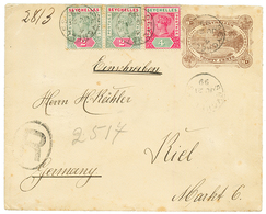 1899 P./Stat 30c + 2c(x2) + 4c Canc. SEYCHELLES /4 Sent REGISTERED To GERMANY. One Flap Missing. Vf. - Samoa
