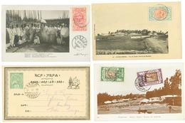ETHIOPIA : 1899/1921 Lot 5 Interesting Covers To SWITZERLAND Or ITALIA. Vf. - Ethiopie