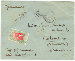 1911 4g Canc. ADDIS-ABABA POSTES (french Type) On REGISTERED Envelope To SWITZERLAND. Scarce. Vvf. - Ethiopie