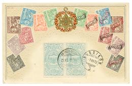 1912 1/4g(x2) Canc. ADDIS ABEBA On Superb Card (stamps From ETHIOPIA) To SWITZERLAND. Vvf. - Ethiopie