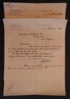 Six écrits Commerciaux Datés De 1890 De La Maison Rolfes Nebel Et Cie Sise Mark Lane à Londres Au Royaume Uni - Royaume-Uni