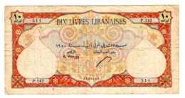 Billets  10 Livres Libanaises LIBAN  Vers 1940 à1945  -sept  2019  Alb Bil - Liban