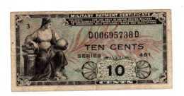 BILLET BANQUE TEN CENTS Military Payment Certificate MPC Series 481, 1951-1954 Korean War  -sept  2019  Alb Bil - Military Payment Certificates (1946-1973)