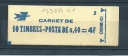 Carnet Marianne De Cheffer 1536B-C1** Carnet Fermé  Conf 3.Côte:15€ - Freimarke