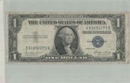 BILLET BANQUE  Silver Certificate  1 Dollar ÉTATS-UNIS D'AMÉRIQUE 1935  -sept  2019  Alb Bil - Stati Uniti