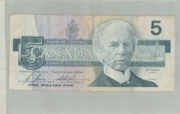 BILLET BANQUE Bank Of CANADA - 5 DOLLARS (OTTAWA 1986 -sept  2019  Alb Bil - Canada