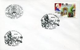 47048 San Marino, Special First Day Postmark Amadeus Mozart 1999 - Muziek