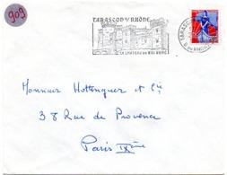 CHATEAU = 13 TARASCON S/ RHONE 1960 = FLAMME SECAP  Illustrée = CHATEAU Du ROI René - Oblitérations Mécaniques (flammes)