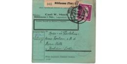 Allemagne  - Colis Postal  - Départ Mühlausen ( Thür ) - Pour Kochern  ( Cocheren ) - Allemagne
