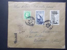 Marcophilie - Lettre Enveloppe Obliteration - CHARGE Valeur Déclarée - TULLE (2514) - Postmark Collection (Covers)