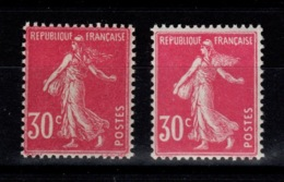 Semeuse YV 191 & 191a N** (type I Et IIa) Cote 7,50 Euros - France