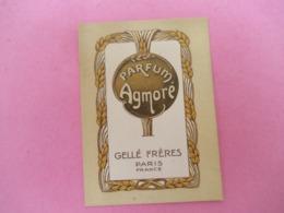 Carte Publicitaire Parfumée/Parfum AGMORE/Gellé Fréres , Paris  /Vers 1920-1930   PARF197 - Antiquariat (bis 1960)