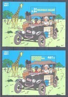 België 2X KUIFJE In CONGO Blok 93** En 205** / Belgique TINTIN Au Congo Blocs 93 Et 205 MNH - Blocs 1962-....