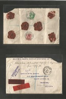 BELGIUM. 1931 (5 Aug) Liege - UK, Folkestone. Registered Insured For 1,927,20 Francos. Fkd Reverse Env At 5,25 Francos R - Belgium