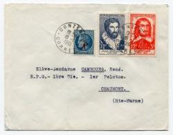 RC 13647 FRANCE 1961 ANCIENS FRANCS SUR LETTRE DE DONZENAC CORREZE POUR CHAUMONT - 1961-....