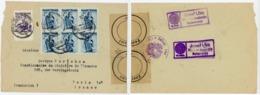 AUTRICHE ENV 1948 RIED INN OBERINNTAL LETTRE => FRANCE + CENSURE - 1945-60 Cartas