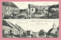 67 - GRUSS Aus BURBACH - Pfarhaus - Unterdorf - Hauptstrasse - Kirche - Wirtschaft E. HECK - Cachet PISDORF - Unclassified