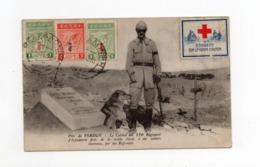 !!! PRIX FIXE : VIGNETTE CROIX ROUGE SUR CPA DE 1918 ENVOYEE DE SALONIQUE POUR LA SUISSE AVEC CENSURE - Postmark Collection (Covers)