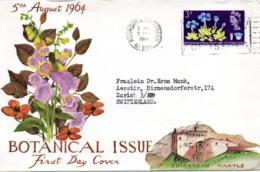 GRANDE-BRETAGNE. N°391 De 1964 Sur Enveloppe 1er Jour Ayant Circulé. Congrès De Botanique/Gentiane. - Medicinal Plants