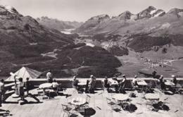 Muottas Muragl Kulm - Terrasse Und Ausblick Auf Das Oberengadin - GR Grisons