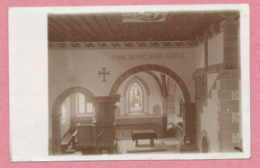 67 - BALBRONN - Carte Photo - Intérieur Du Temple Protestant - Cachet ZUG - Ambulant - MOLSHEIM - ZABERN - Francia